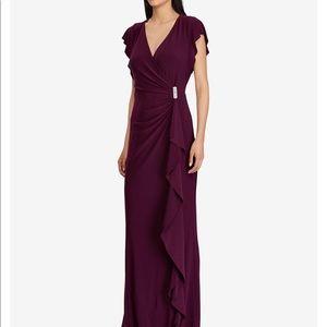 Flutter sleeve gown.
